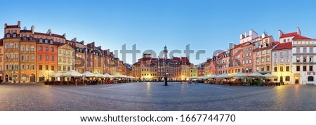 Warsaw, Old town square at summer, Poland, nobody Zdjęcia stock ©