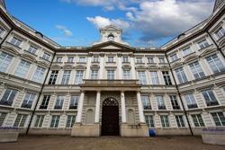 Warsaw, Poland. Jablonowski Palace. The facade of Citi Handlowy building. Brokerage House of Bank Handlowy