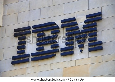 WARSAW, POLAND - MAY 19: IBM logo on the wall background on May 19, 2011 in Warsaw, Poland. Globally, IBM runs 43 centers IBM Innovation Center. One of them was opened in Warsaw, Poland.