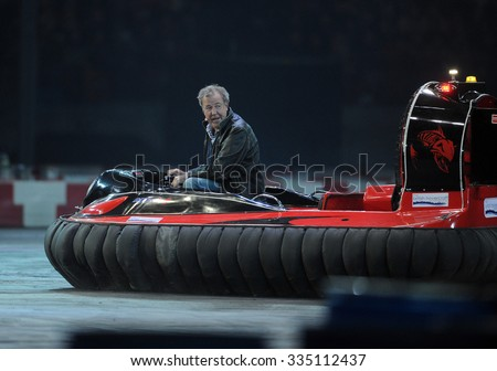 WARSAW, POLAND - OCTOBER 24 2015: VERVA Street Racing Special Edition o/p Jeremy Clarkson