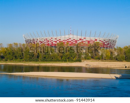 WARSAW, POLAND - OCTOBER 16:  Warsaw National Stadium  on October 16, 2011. The stadium was constructed in 2011 to meet euro 2012 football championship.