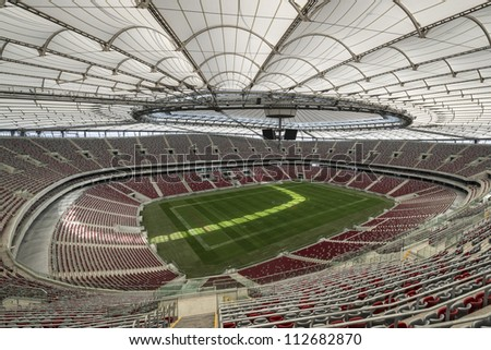 WARSAW, POLAND - SEPTEMBER 05: Warsaw National Stadium on September 05, 2012. The National Stadium hosted the opening match of the UEFA Euro 2012.