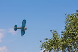 Wartime aircraft in the sky