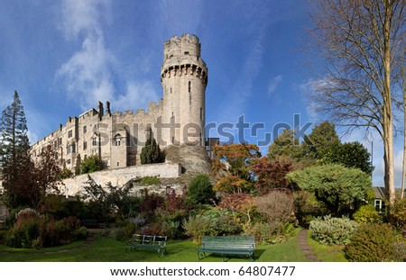 Warwick castle a historic building in the heart of Warwickshire England Uk - stock photo