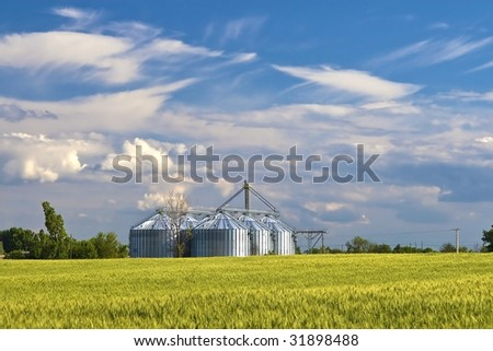 Was built metal agricultural silo the afield.