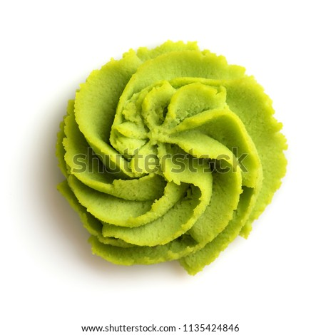 Wasabi portion on white background Stock fotó ©