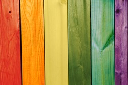 washed painted gay flag wooden texture background