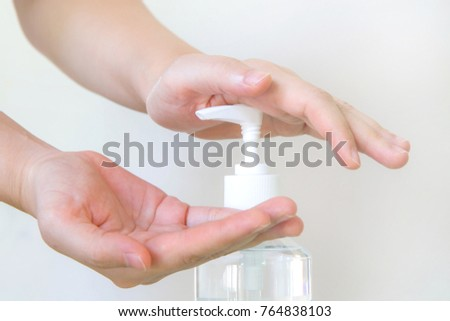 Washing hand with Alcohol Sanitizer
