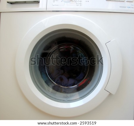 washing machine close-up