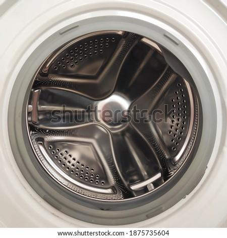 Washing machine closeup at home Stok fotoğraf ©