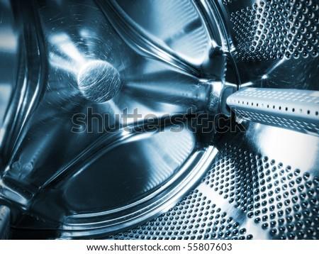 Washing machine drum interior