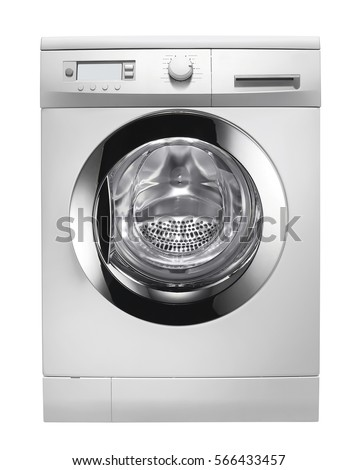 Washing machine isolated on white background #566433457