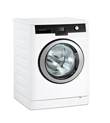 Washing machine with clipping path on white background