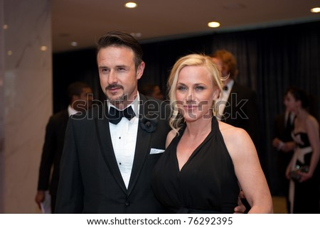 stock photo : WASHINGTON - APRIL 30: David Arquette and Patricia Arquette ...