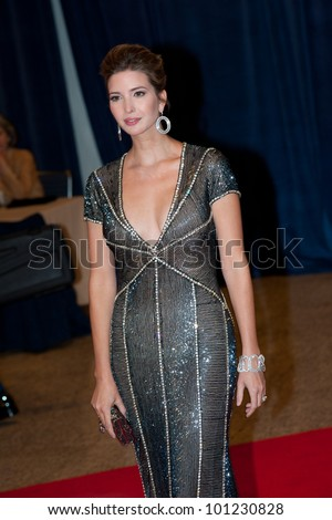 WASHINGTON - APRIL 28: Ivanka Trump arrives at the White House Correspondents Dinner April 28, 2012 in Washington, D.C.