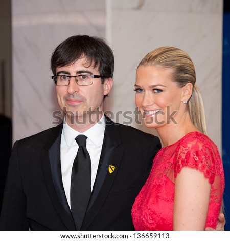 WASHINGTON - April 27:  John Oliver and wife Kate Norley at the White House Correspondents Dinner on April 27, 2013 in Washington, DC