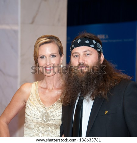 WASHINGTON - April 27: Willie Robertson and wife Korie arrive at the