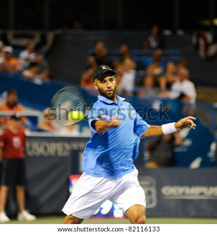 WASHINGTON - AUGUST 1: James Blake (USA) defeats Tatsuma Ito (JPN, not pictured)  at the Legg Mason Tennis Classic on August 1, 2011 in Washington.