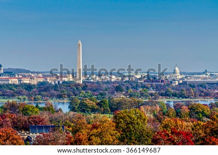 Washington D.C. as seen from the Arlington House.
