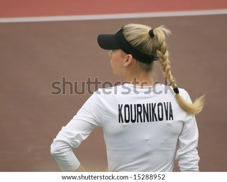 WASHINGTON, D.C., JULY 23: Anna Kournikova, a former celebrity pro tennis star, at a World team tennis event in Washington DC on July 23, 2008