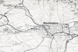 Washington D.C. USA travel map background