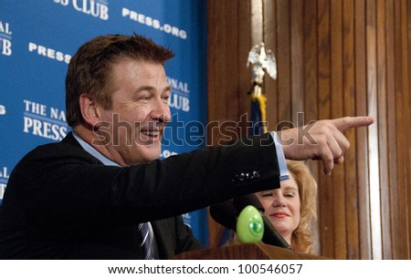 WASHINGTON, DC APRIL 16:  Actor and arts activist Alec Baldwin calls for more federal funding for the arts at a luncheon at the National Press Club, April 16, 2012 in Washington, DC