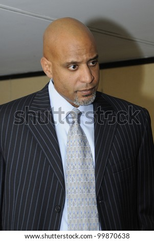 WASHINGTON, DC  APRIL 11: Former Major League Baseball Player Tony Clark attends a luncheon at the National Press Club, April 11, 2012 in Washington, DC