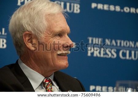 WASHINGTON, DC - APRIL 19: Media Mogul Ted Turner speaks on energy policy and climate change at the National Press Club, April 19, 2011 in Washington, DC
