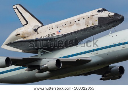 space shuttle discovery at dulles airport - photo #23