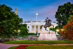 Washington, DC at the White House and Lafayette Square.