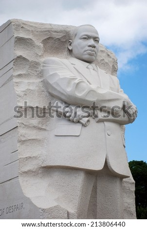 Washington Dc August 24 2014 Martin Luther King Jr Statue