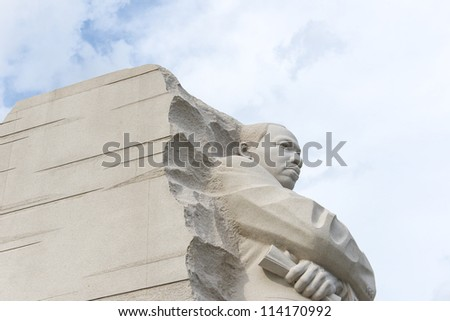 WASHINGTON, DC - AUGUST 20: Memorial to Dr. Martin Luther King on August 20, 2012. The memorial is America's 395th national park.