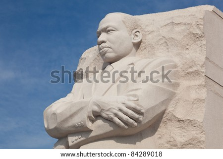WASHINGTON, DC - AUGUST 24: The monument to Dr Martin Luther King on August 24, 2011. Hurricane Irene caused the cancellation of the dedication ceremony.