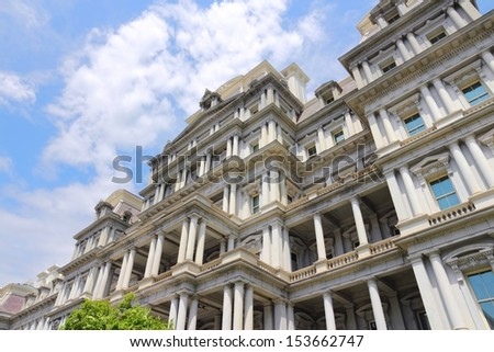 Washington DC, capital city of the United States. Eisenhower Executive Office Building.