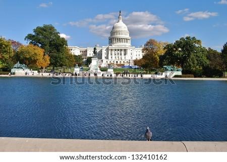 Washington DC Capitol and Fall Season, USA