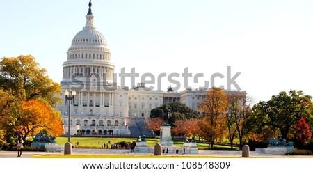 Washington DC Capitol in the Fall Season , USA