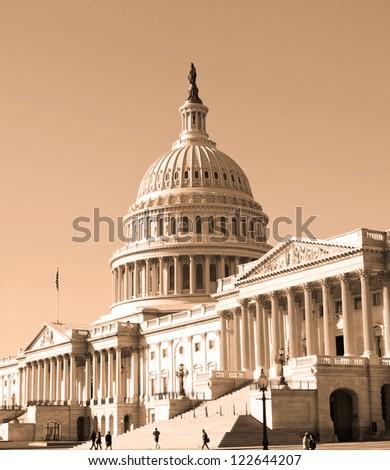 Washington, DC, Capitol , USA - sephia