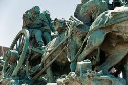 Washington DC - Civil War Memorial Statue near the Ulysses S. Grant Memorial in front o the US Capitol Building