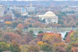 Washington DC in autumn colors - United States of America