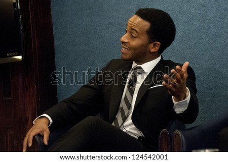 "WASHINGTON, DC - JAN. 9: Andre Holland (Press Secretary Marshall Malloy in ""1600 Penn"") in an appearance at the National Press Club, January 9, 2013 in Washington, DC"