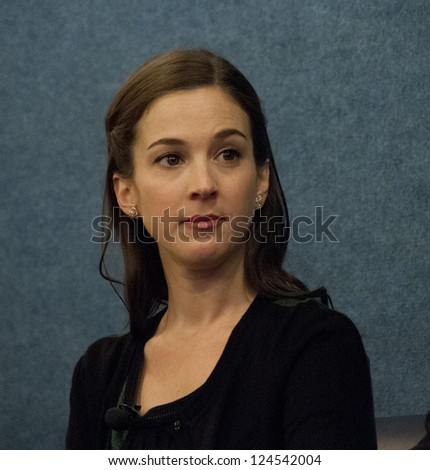 "WASHINGTON, DC - JAN. 9: Martha MacIsaac (President's daughter Becca Gilchrist in ""1600 Penn"") in an appearance at the National Press Club, January 9, 2013 in Washington, DC"