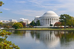 Washington DC - Jefferson Memorial in Autumn -  United States of America