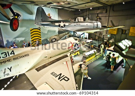 WASHINGTON DC - JULY 14: National Air and Space museum in Washington holds the largest collection of historic aircraft and spacecraft in the world. Open for public at July 14,2010, Washington, USA.