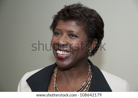 WASHINGTON, DC - JULY 24:  PBS journalist and newscaster Gwen Ifill speaks to a luncheon at the National Press Club, July 24, 2012 in Washington, DC