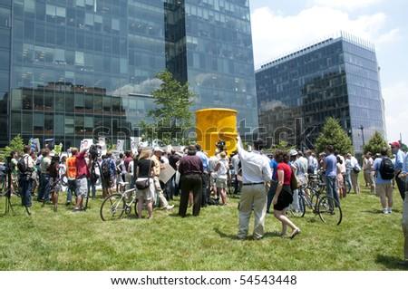 WASHINGTON, DC - June 4: Demonstrators protest BP oil spill, demand environmental justice, June 4, 2010 in Washington, DC