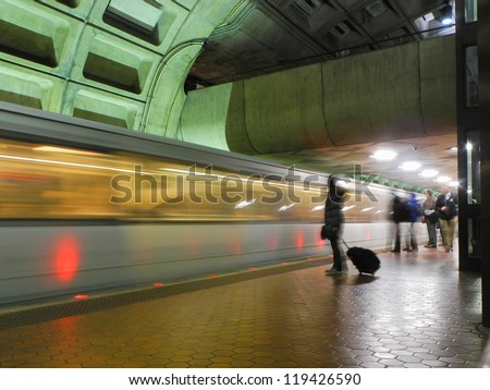 Washington DC, metro station interior