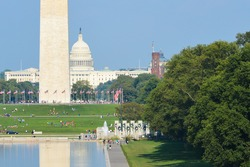 Washington DC - National Mall with Monuments