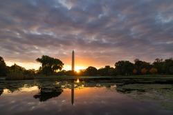 Washington DC Sunrise from Constitution Gardens