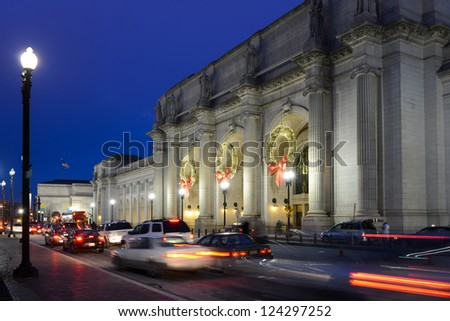 Washington DC, Union Station at night
