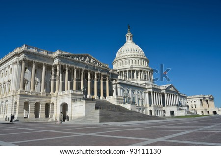 Washington DC, United States Capitol Building - stock photo